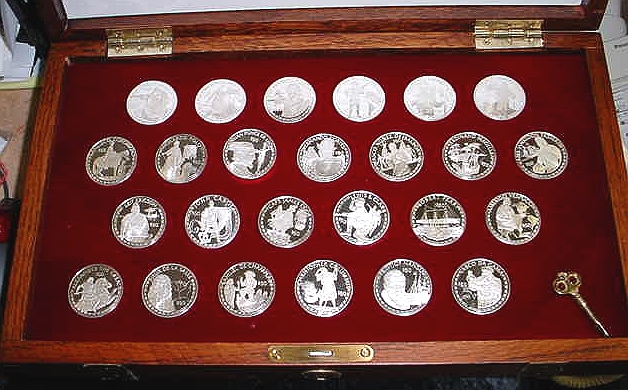 Franklin Mint Coins Of The Great Explorers