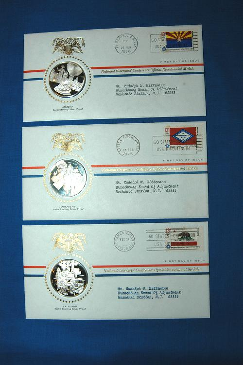 Franklin Mint Bicentennial Medals - National Governor's Conference