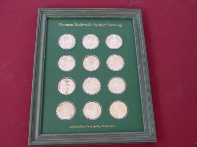 Franklin Mint Rockwell - Boy Scouts Spirit of Scouting Medals
