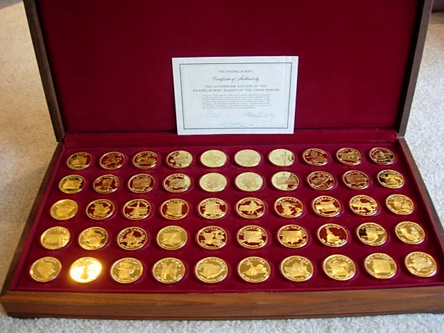 Franklin Mint States Of The Union Medals