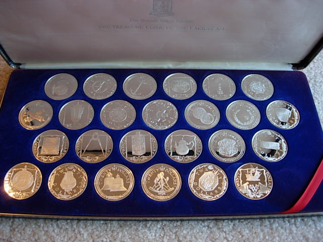 Franklin Mint Treasure Coins Of The Caribbean
