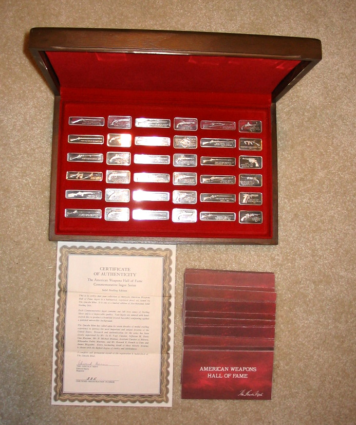 Lincoln Mint American Weapons Hall Of Fame Ingots