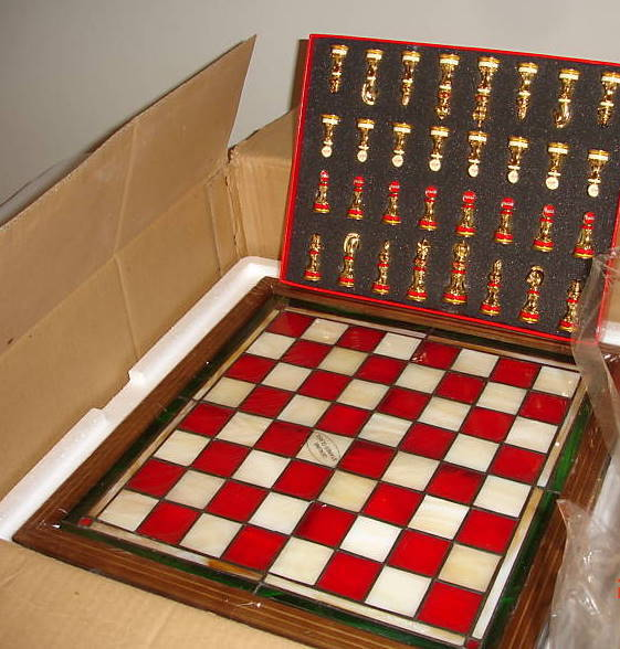Franklin Mint Coca Cola Chess Set