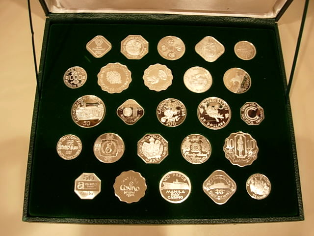 Franklin Mint International Gaming Tokens Ingots
