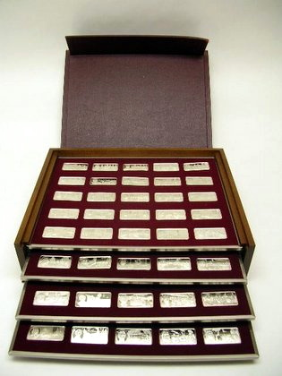 Franklin Mint 100 Greatest Americans Ingots