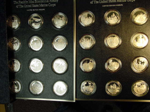 Franklin Mint Marine Corps History Medals