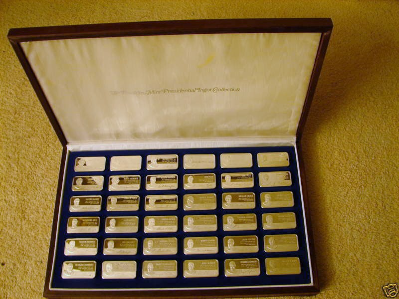 Hamilton Mint Presidents Ingots