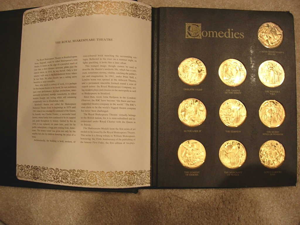 Franklin Mint Shakespeare Medals