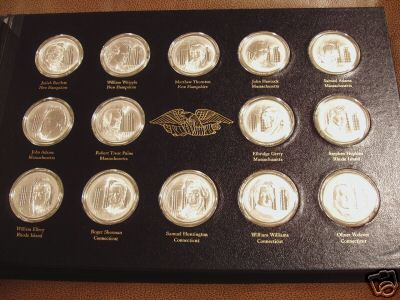 Franklin Mint Signers of the Declaration of Independence Medals