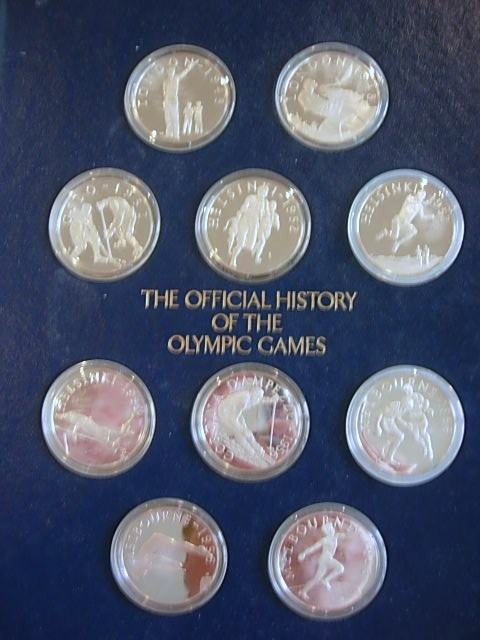 Franklin Mint Olympic Games History Medals